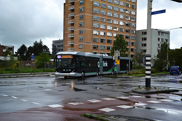 dubbel gelede bus