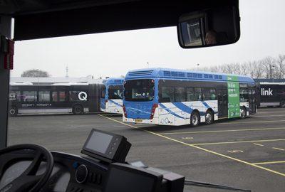 Waterstof- en elektrische bussen op dienst
